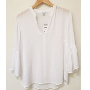 NWT Splendid White Blouse Bell Sleeve